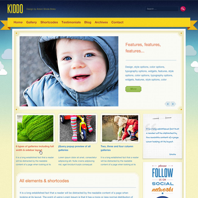 kiddo-wordpress-theme