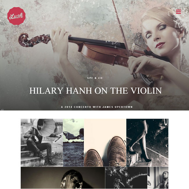 Lush WordPress Theme for Music Band Sites