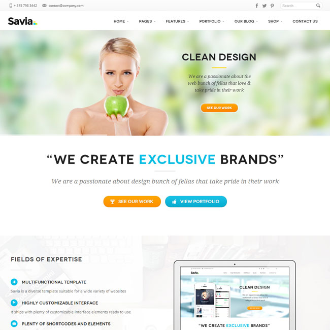 Savia – Responsive WordPress Theme