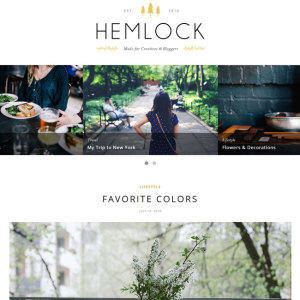 Hemlock WordPress Blog Theme