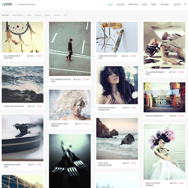 Oyster Photo WordPress Theme
