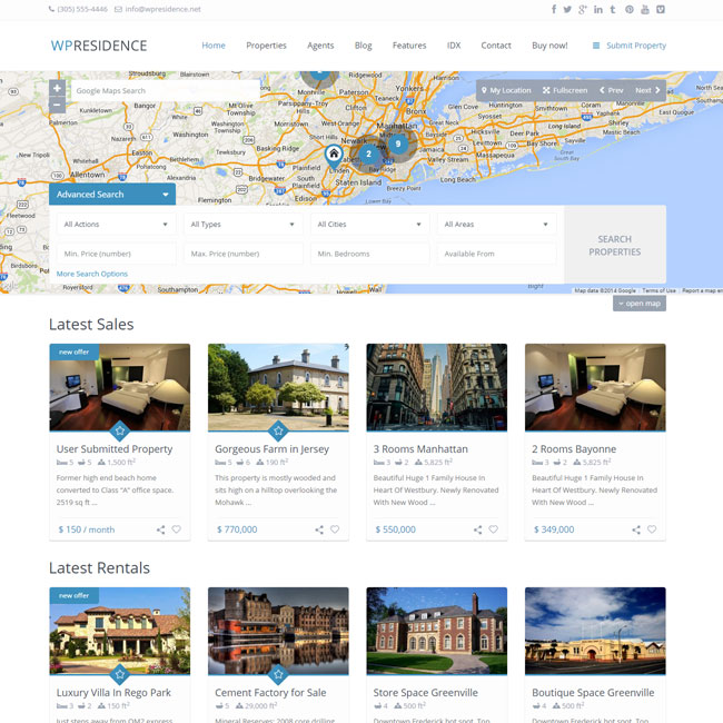 WP Residence WordPress theme