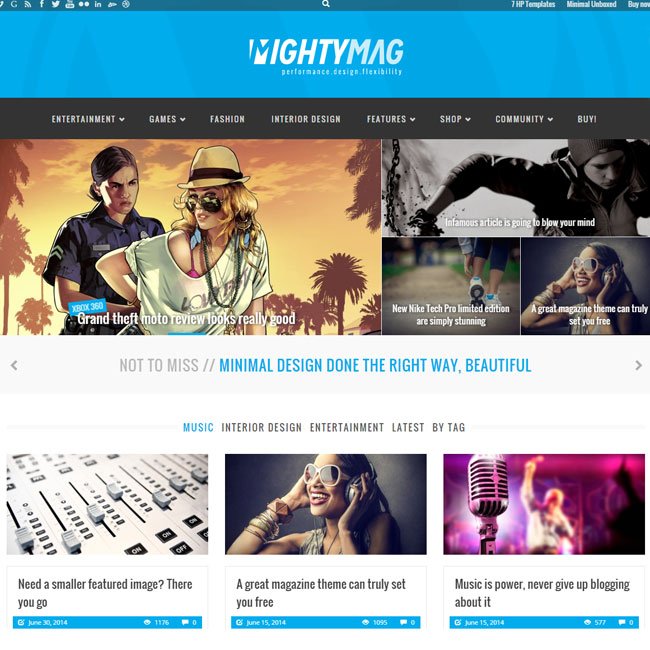 MightyMag WordPress Theme for Magazine, Shop