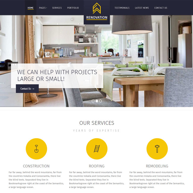 Renovation Construction WordPress Theme