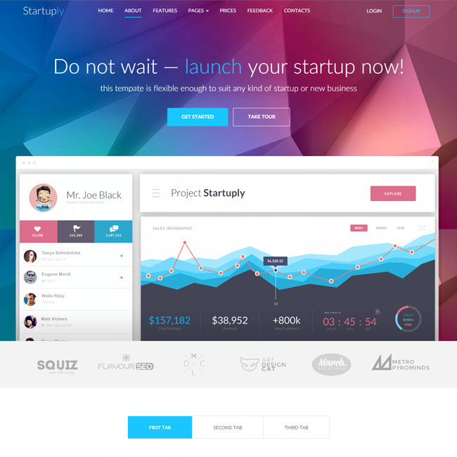 Startuply – WordPress Theme for Robust Startup Sites