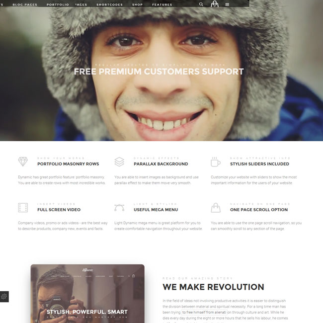 The Dynamic – High Performance WordPress Theme