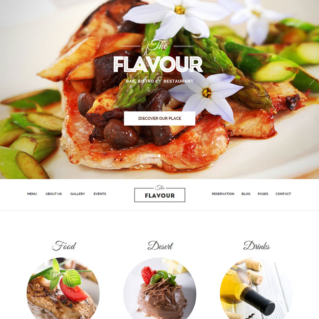 The Flavour Restaurant WordPress Theme