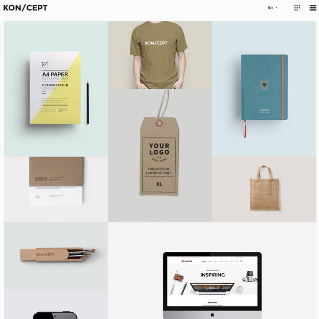 KON/CEPT WordPress Theme for Creative Porfolios
