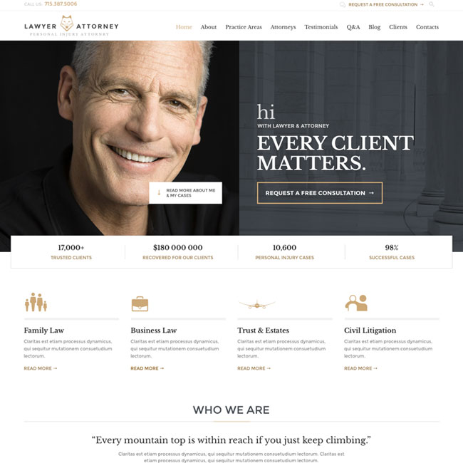 Lawyers Attorneys WordPress Theme
