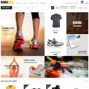 Mindig eCommerce WordPress Theme