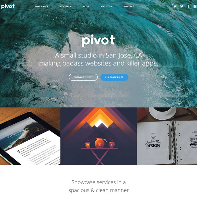 Pivot Multipurpose WordPress Theme