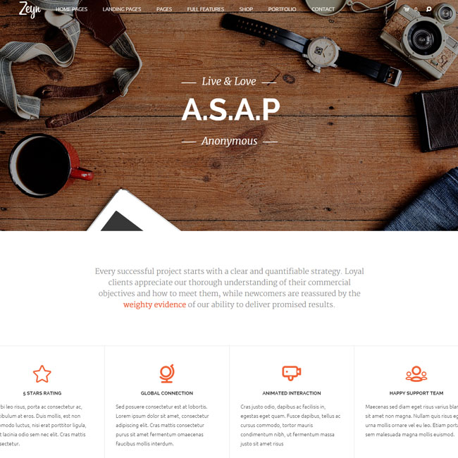 Zeyn WordPress Theme for Multipurpose Websites