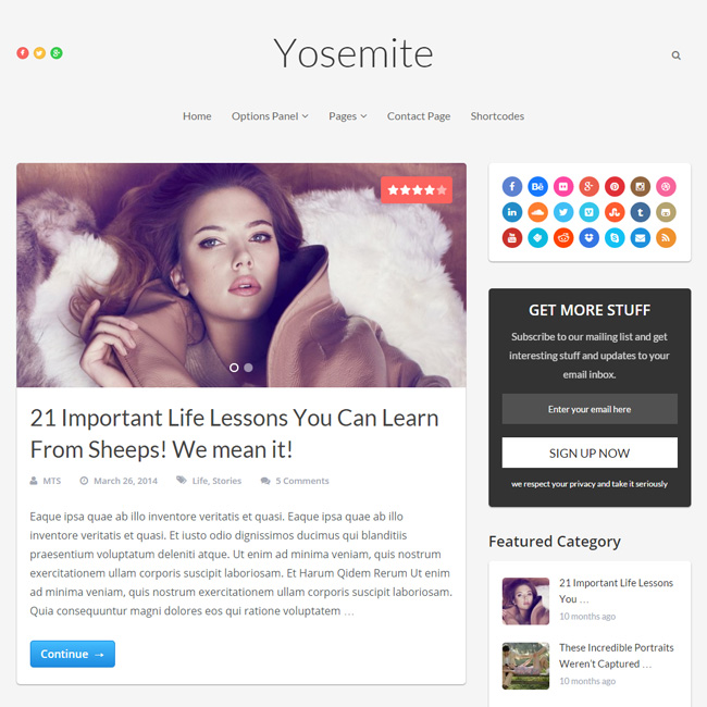 Yosemite WordPress Theme by MyThemeShop