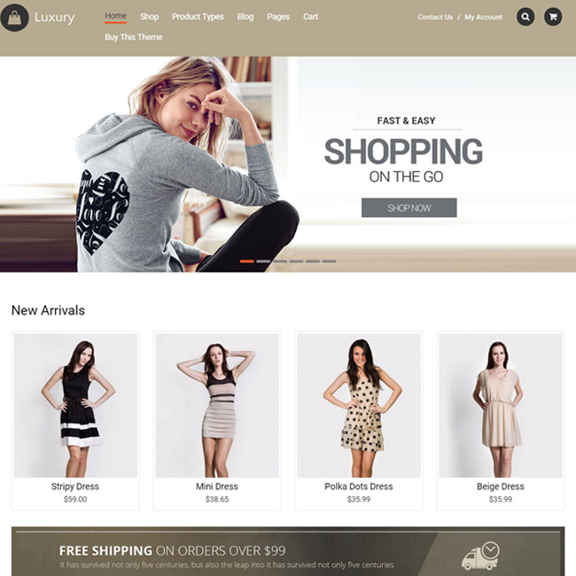 Luxury WooCommerce WordPress Theme