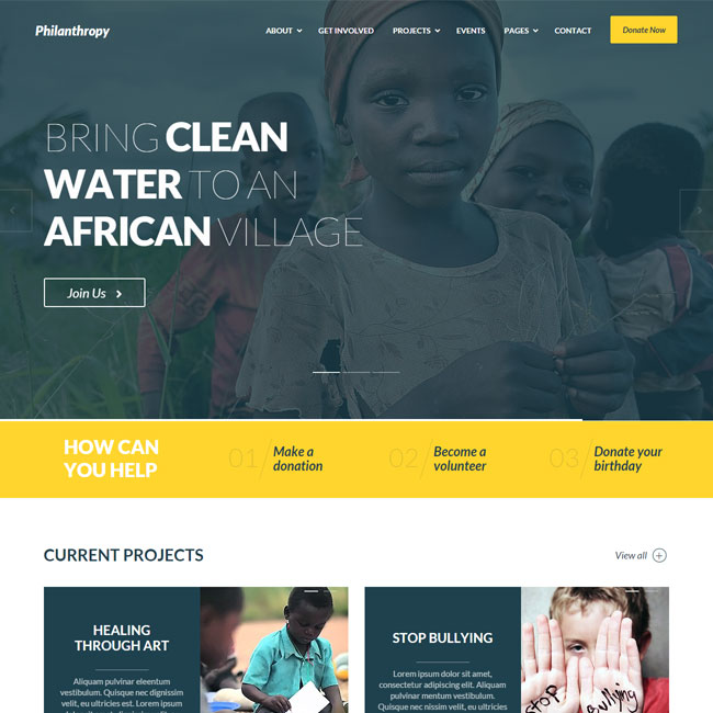 Philanthropy WordPress Theme by ThemeFuse