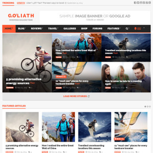Goliath WordPress Theme for Magazine