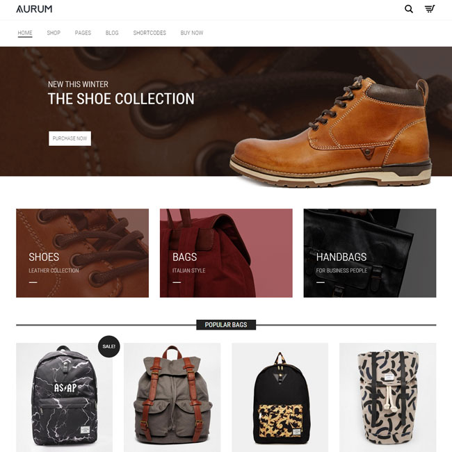 Aurum WordPress Theme For Minimalist Shopping Site