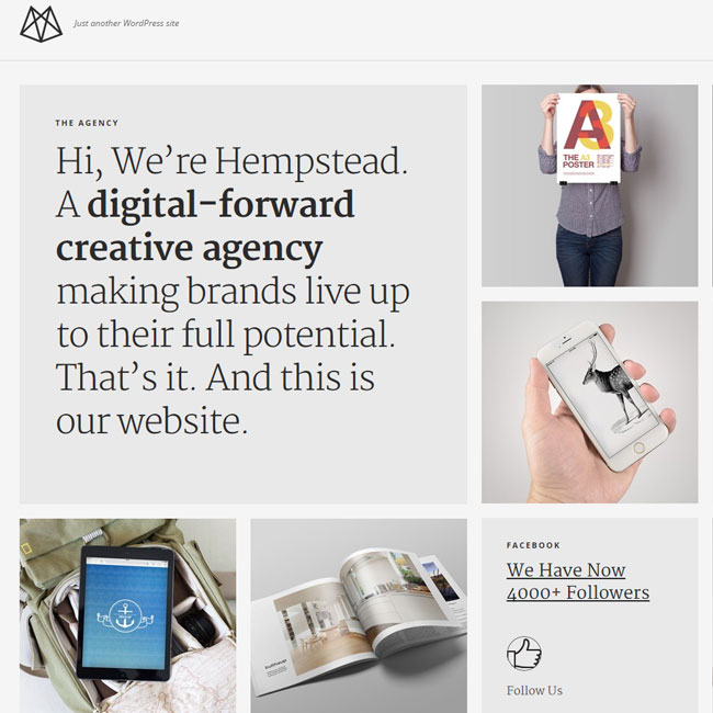 Hempstead Portfolio WordPress Theme