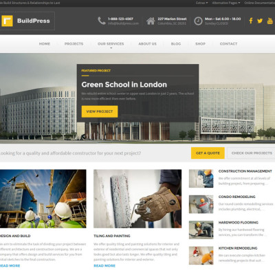 BuildPress Construction WordPress Theme