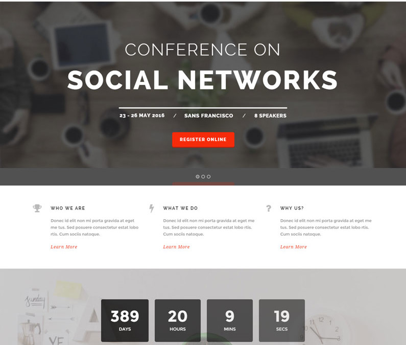 The Keynote Meeting WordPress Theme
