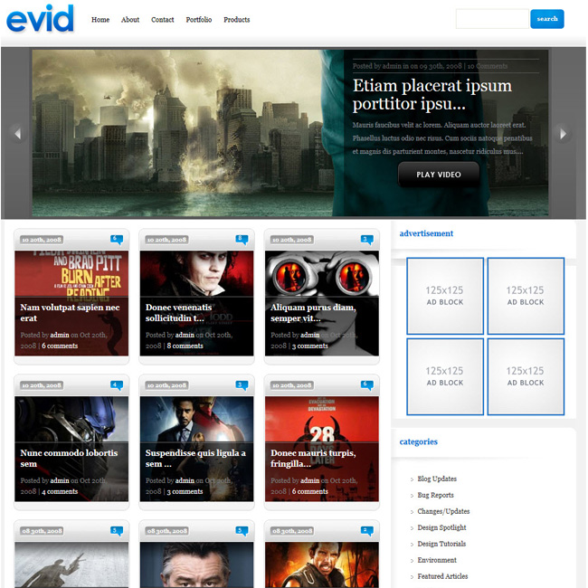 Evid – Premium WordPress Theme for Video Blog