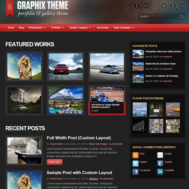 Graphix – Portfolio or Photo Gallery WordPress Theme