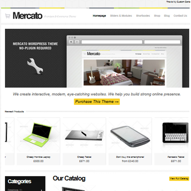Mercato Premium WordPress E-commerce Theme by Themeforest