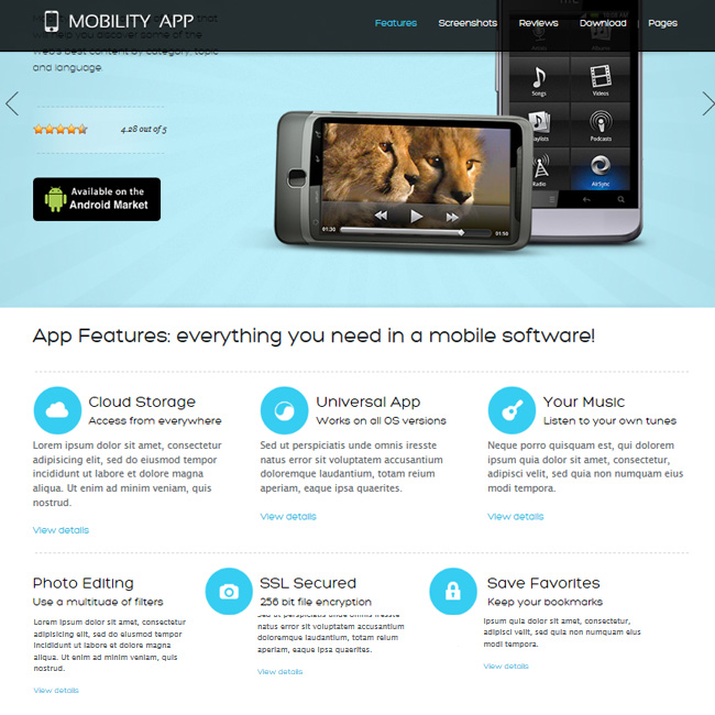 MobilityApp – WordPress Theme for selling mobile applications