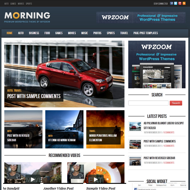 Morning – Premium Magazine WordPress Theme