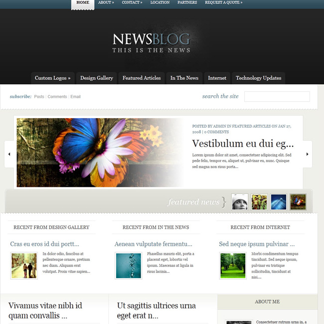 Enews – News blog or magazine wordpress theme