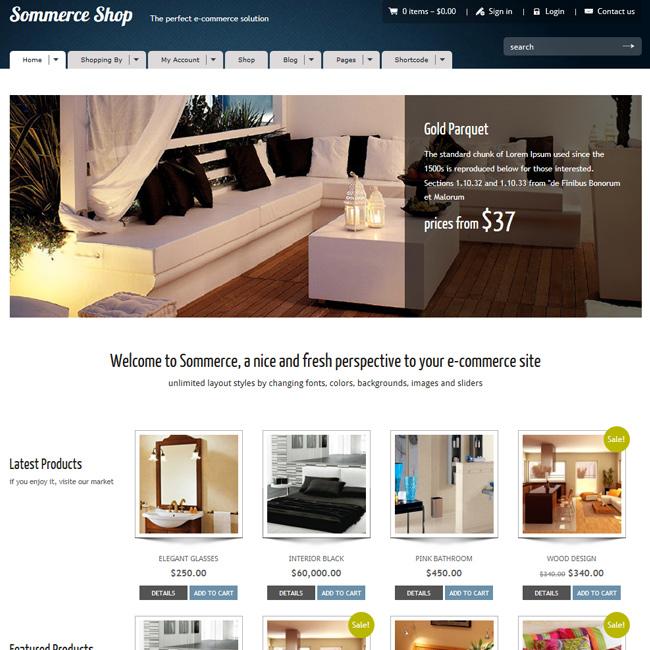 Sommerce Shop - A Versatile E-commerce Theme  | Premium WordPress Themes