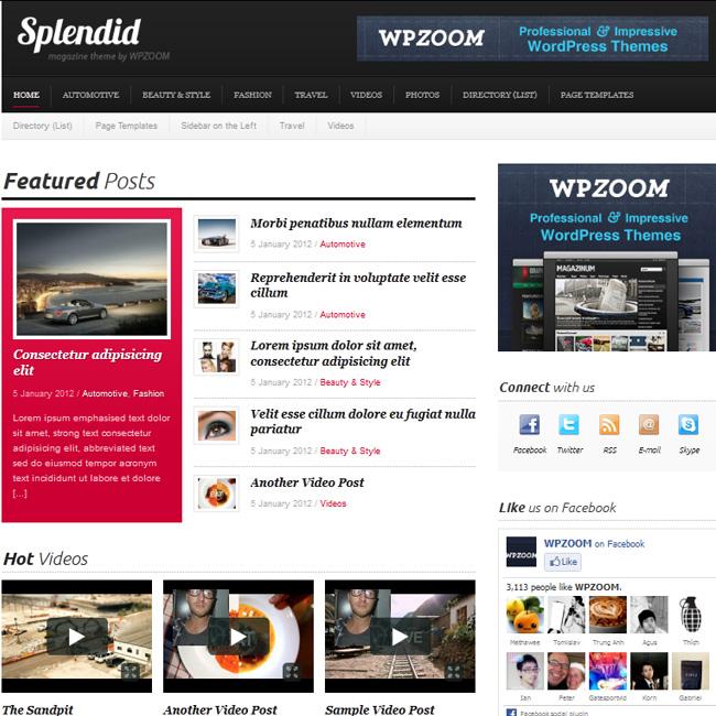 Splendid – Magazine WordPress Theme