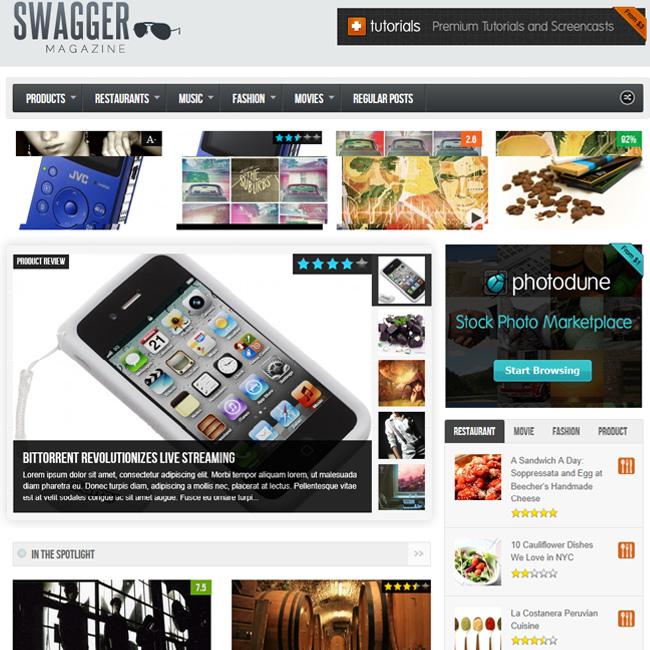 SwagMag – WordPress Magazine/Review Theme
