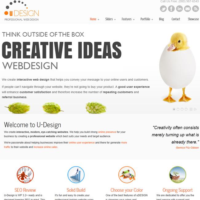 U-Design – Creatvie Business WordPress Theme