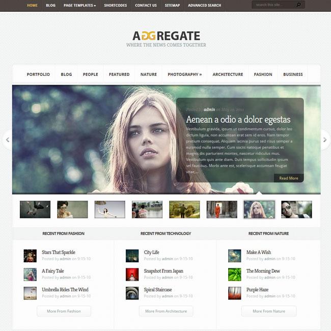 Aggregate – WordPress Theme Magazine Style