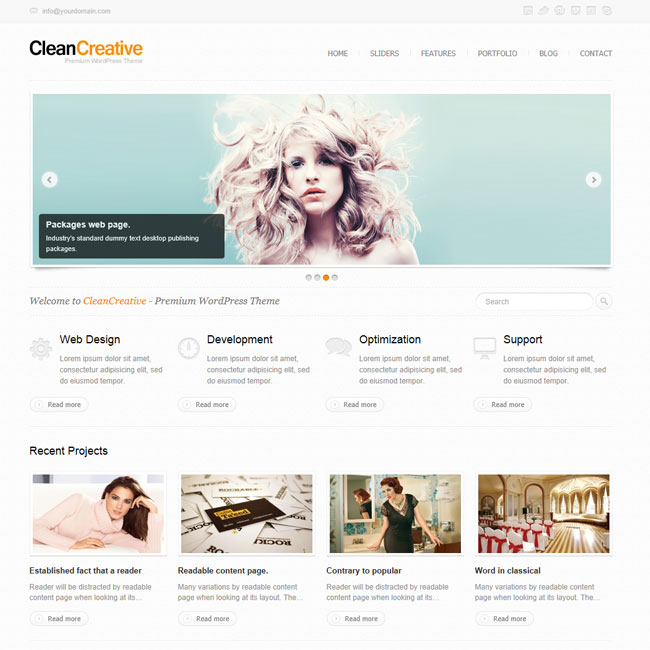 Clean Creative - Powerul WordPress Theme | Premium WordPress Themes