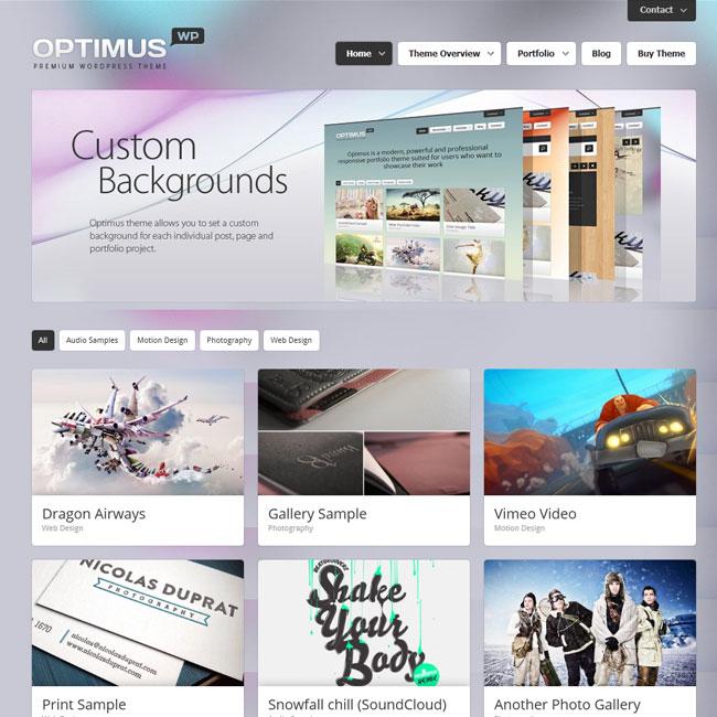 Optimus – Responsive Portfolio WordPress Theme