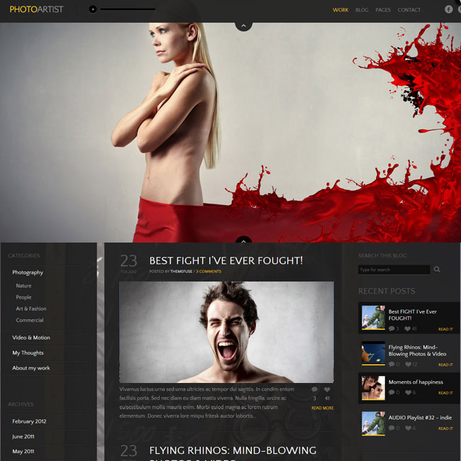 PhotoArtist - A Premium Photography / Art WordPress Theme | Premium WordPress Themes
