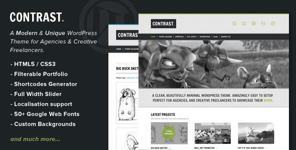 Contrast - Minimalist Agency/Freelancer WordPress Theme