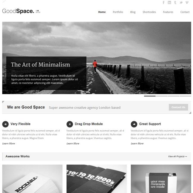 Good Space - Responsive Minimal WordPress Theme