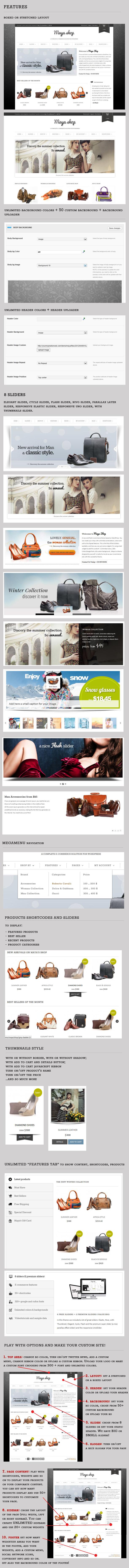 MayaShop - WordPress Theme