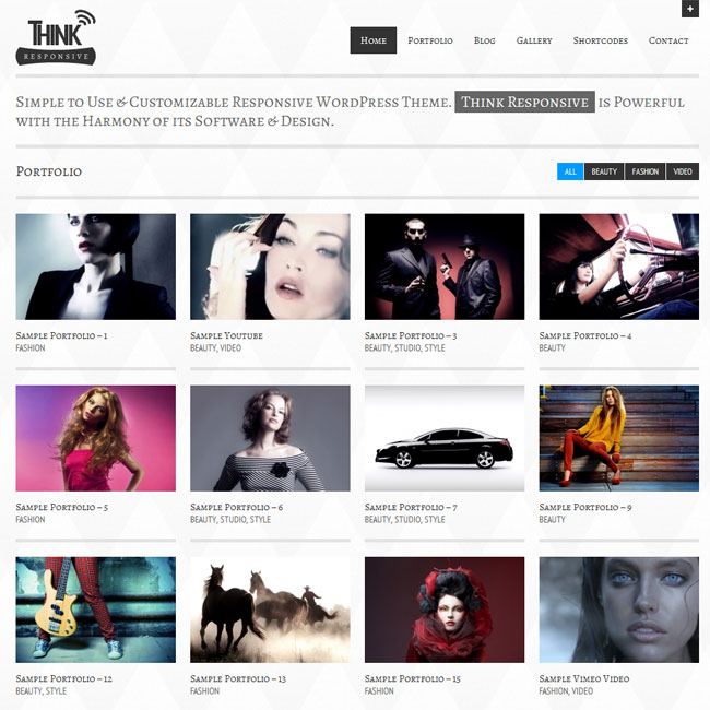 Think Responsive Portfolio and Blog Theme | Premium WordPress Themes