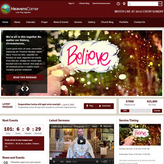 Heaven's Corner Church WordPress Theme