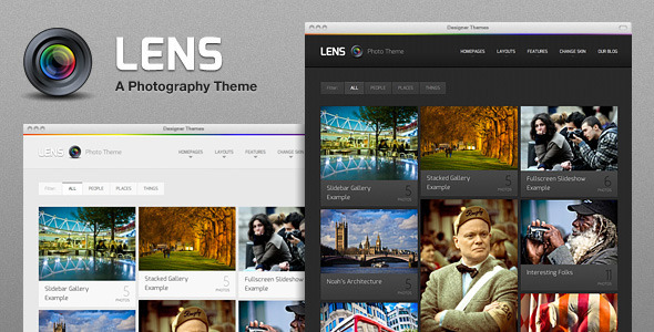 lens photography wordpress theme preview