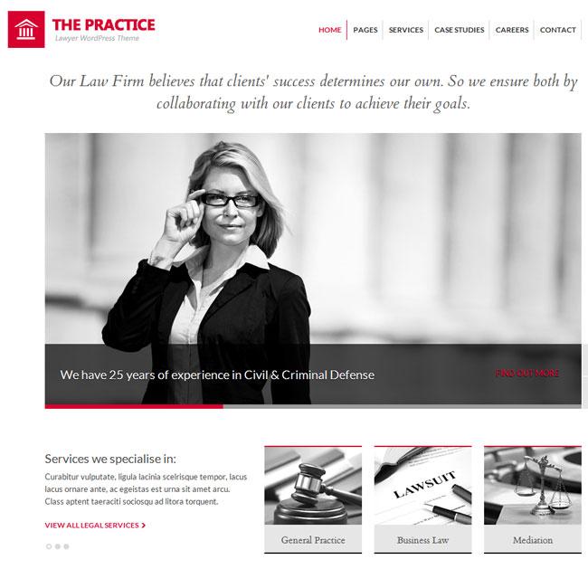 The Practice Lawyer WordPress Theme