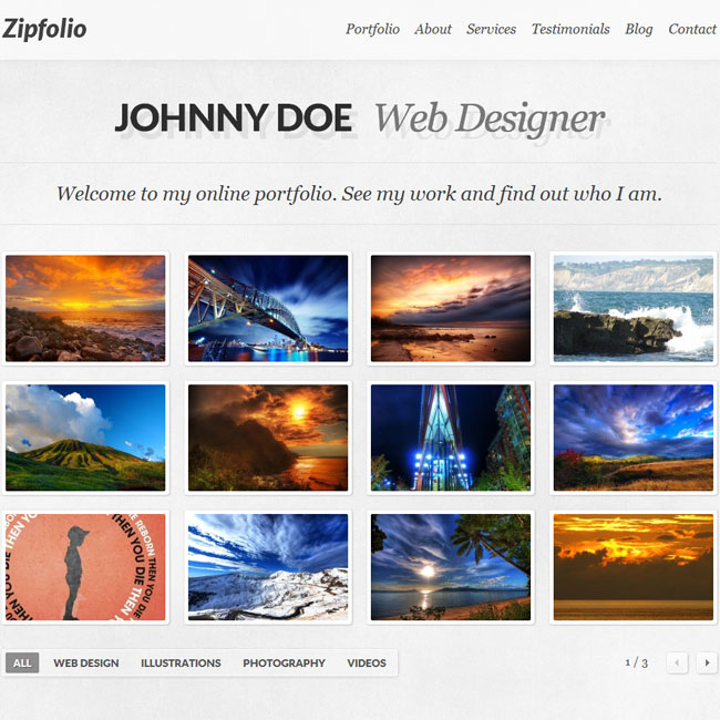 Zipfolio Portfolio WordPress Theme