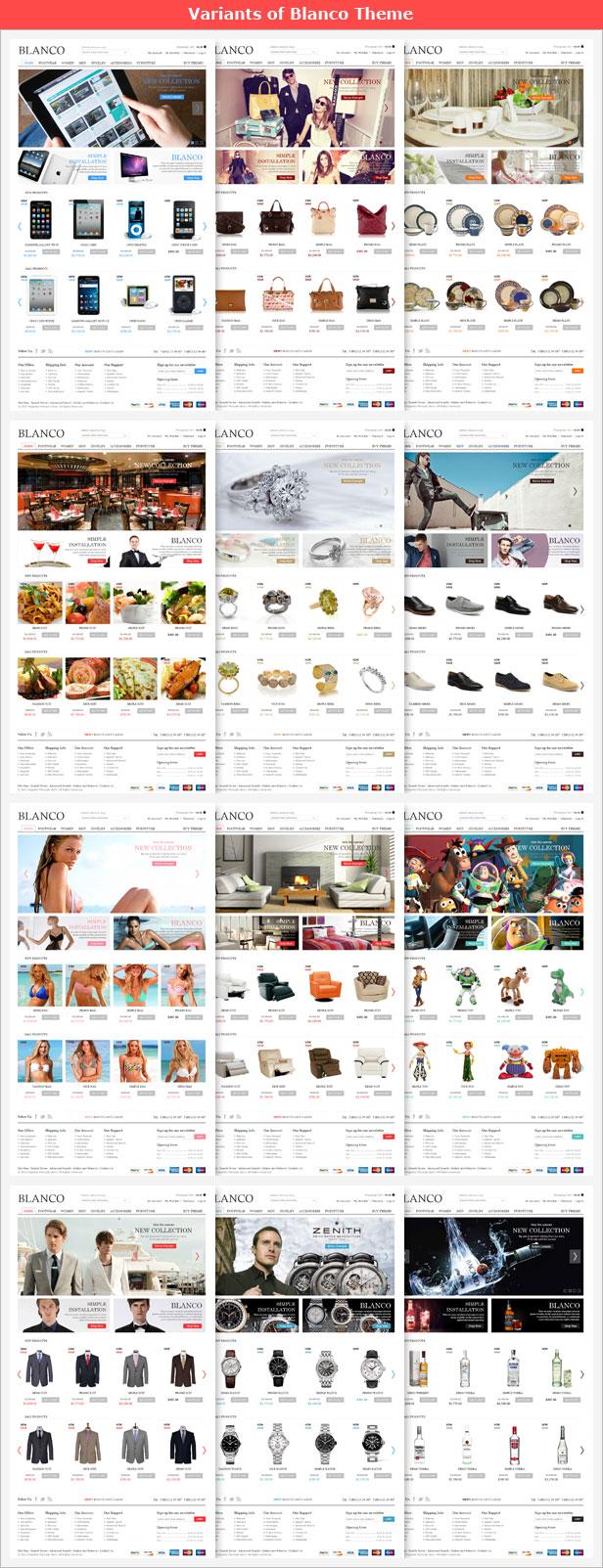 Blanco WordPress theme color schemes