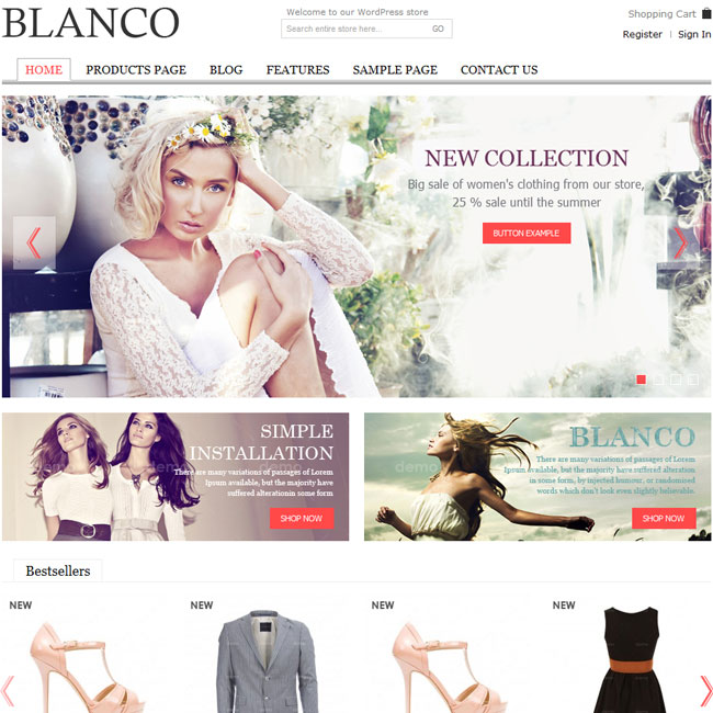 Blanco – Responsive WordPress E-Commerce Theme