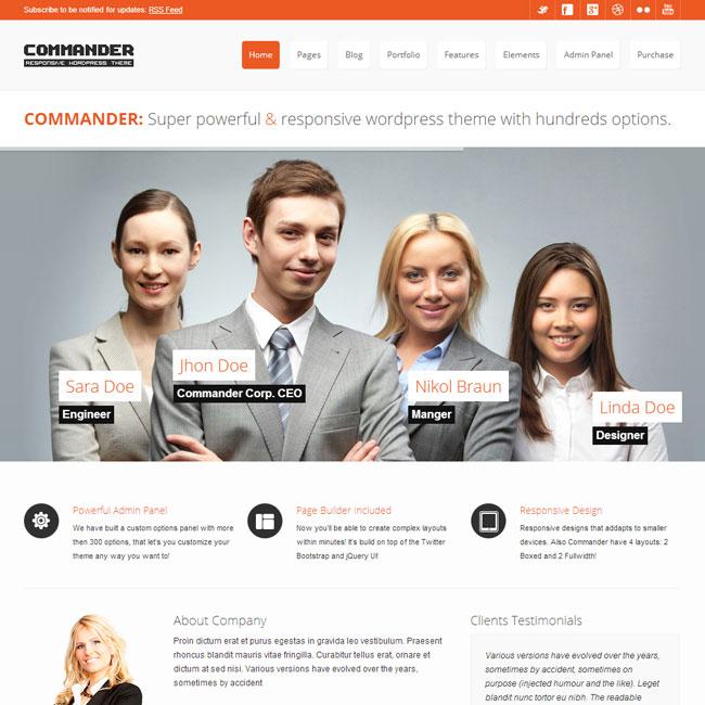 COMMANDER - Responsive Multi-Purpose WordPress Theme