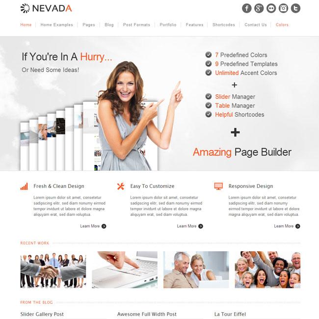 Nevada - Multi-Purpose Responsive WordPress Theme